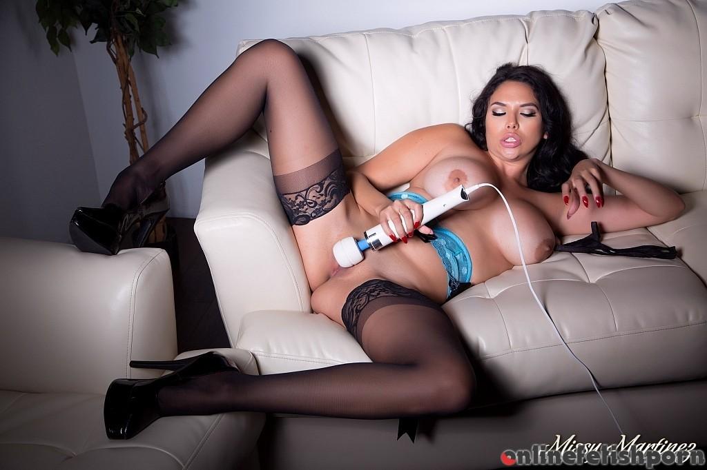 Cherrypimps.com – Missy Gives Her Pussy a Hitachi Missy Martinez 2015 Nylons