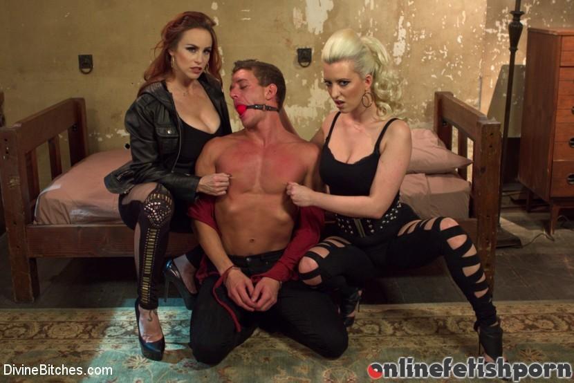 Divinebitches.com – Hottest FemDom Sex Ever Filmed. Bella Rossi & Cherry Torn & Alexander Gustavo 2014 Rough Sex