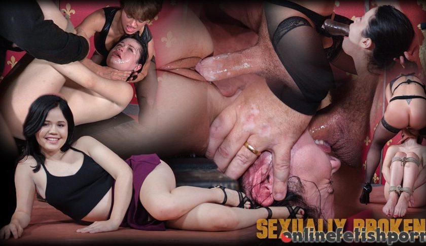 Sexuallybroken.com – Tiny Sexy Yhivi, rope bound,.. Yhivi & Dee Williams & Matt Williams 2016 Big Butt
