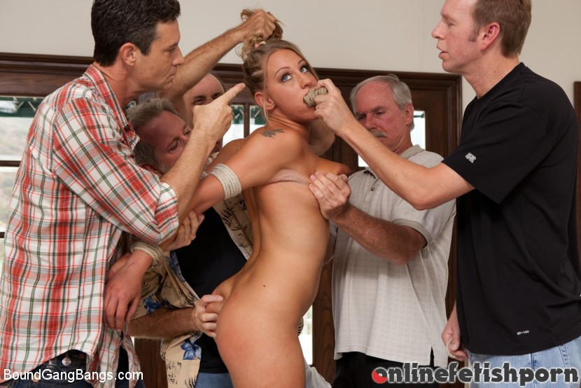 Boundgangbangs.com – 19 Year Old With Big Natural Tits.. Lizzy London & Mark Wood & Jack Moore 2011 Blowjob