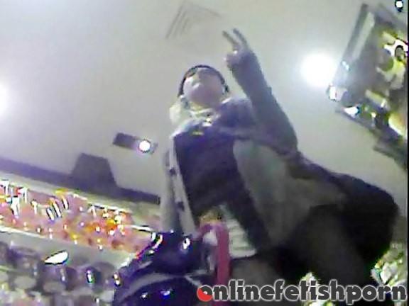 Upskirtcollection.com – Cool pantyhose upskirt in a shop  2011 Upskirt