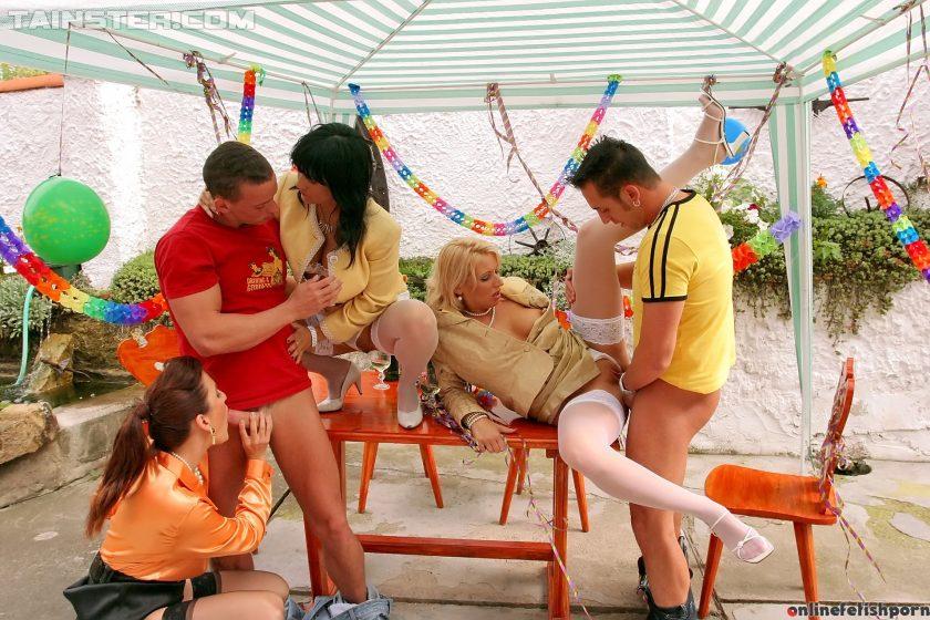 Fullyclothedsex.com – Sluttin' Up The Party In Style Tatiana Milovani 2014 Group Sex