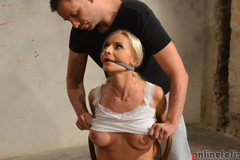 StrugglingBabes.com – Susane chair-tied cleavegagged.. Susane 2016 Chair Tied