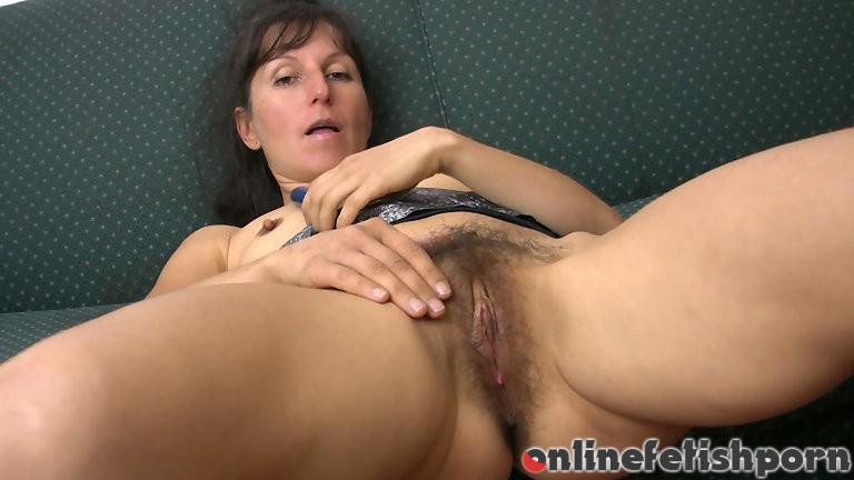 Wearehairy.com – Carmen stuffs her bush on the couch Carmen 2011 Small Breasts