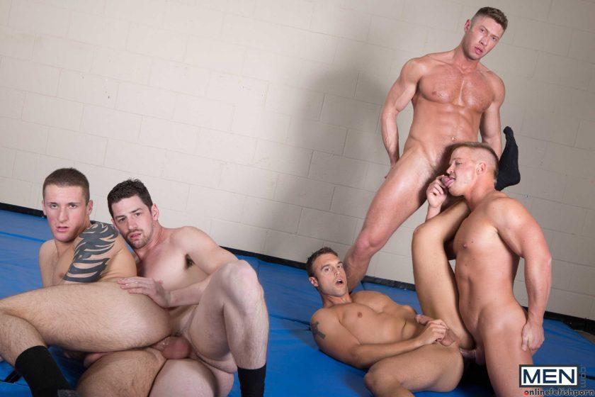 Jizzorgy.com – Men In Blue Part 3 Andrew Stark & Connor Kline & Johnny Ryder 2013 Gay Porn