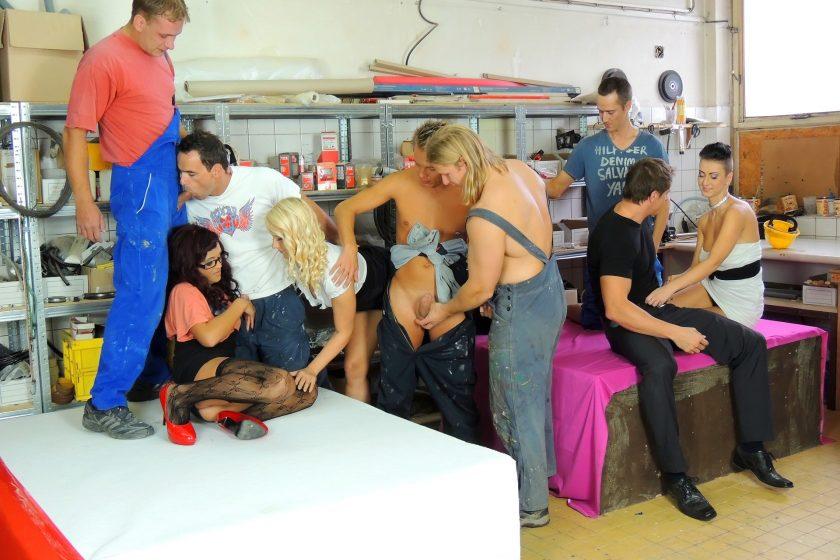 Bimaxx.com – Built For Bi Part 1 Eliss Fire & Rachel La Rouge & Kirsten Plant 2012 Bisexual