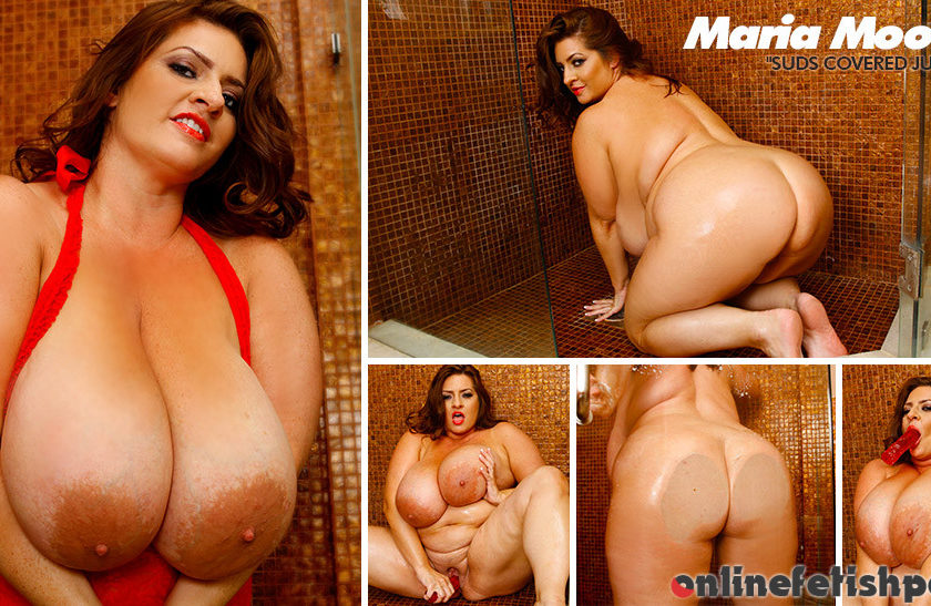 Plumperpass.com – Suds Covered Juggs Maria Moore 2013 White