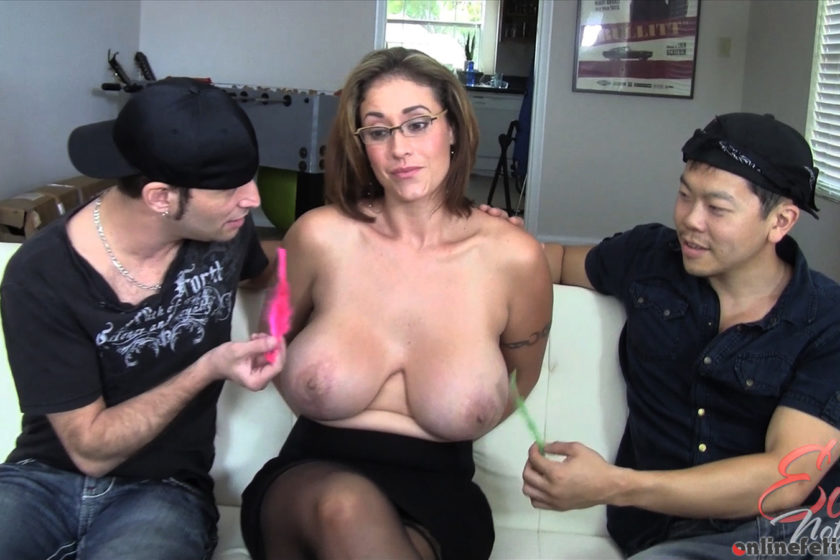 Pornstarplatinum.com – Eva Notty Tickled By Two Guys.. Eva Notty 2014 Brunette